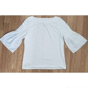 St John's Bay White Bell Sleeve Top